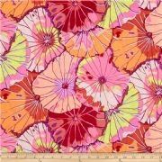 Kaffe Fassett Lotus Leaf Red- Per Quarter Metre.